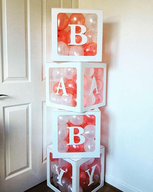 Baby Blocks with Balloons