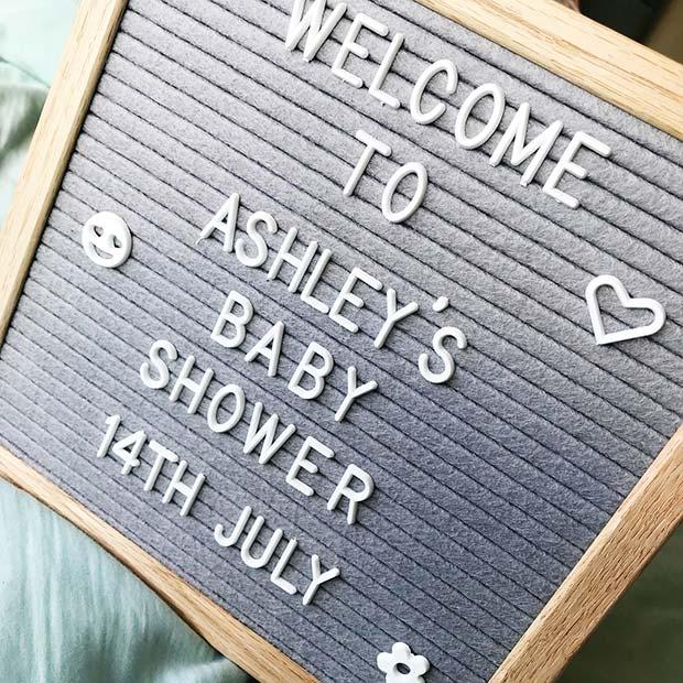 Baby Shower Letter Board