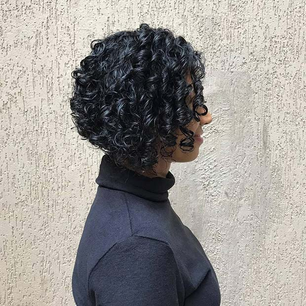 Beautiful Bob with Tight Curls