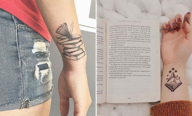 23 Awesome Tattoo Ideas For Book Lovers Stayglam