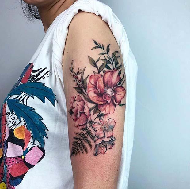 Botanical Arm Tattoo