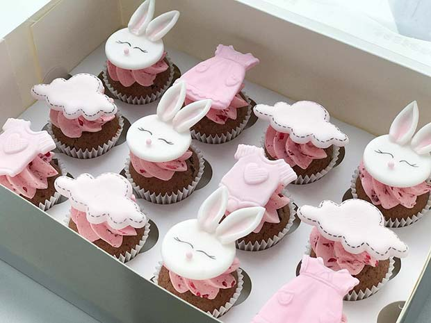 Cute Baby Shower Cupcakes