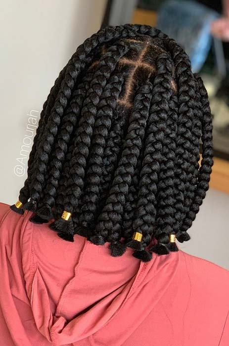 23 Short Box Braid Hairstyles Perfect For Warm Weather Stayglam