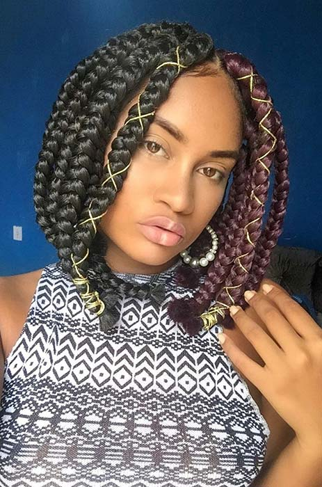 23 Short Box Braid Hairstyles Perfect For Warm Weather