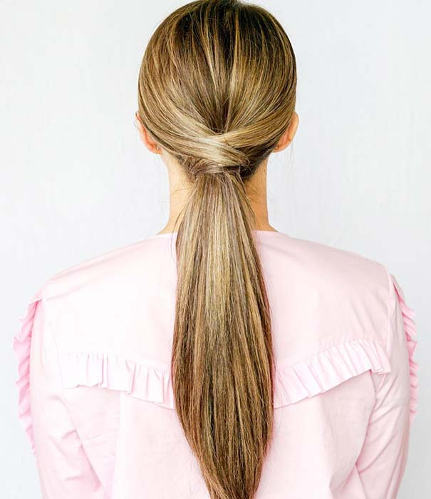 Low, Crisscross Ponytail