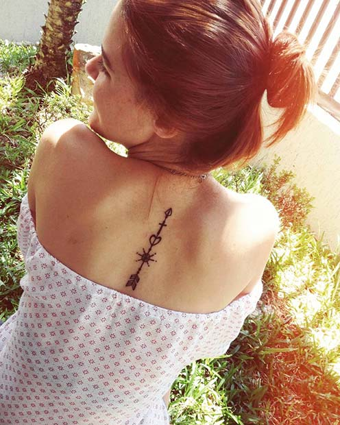 Cute Back Tattoo Idea