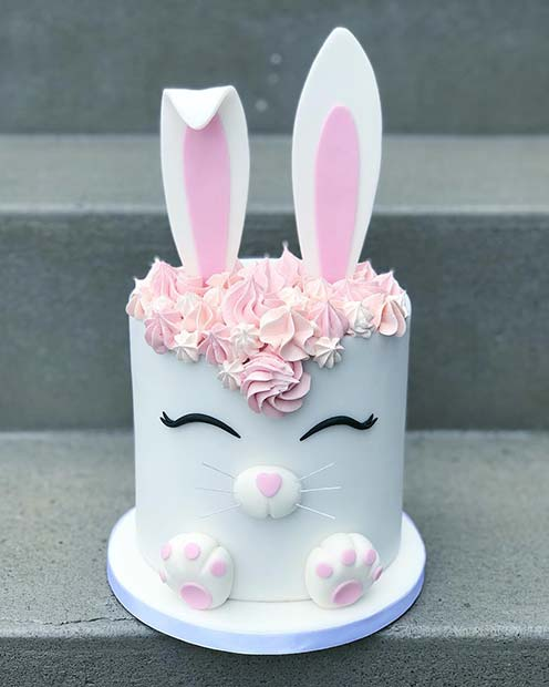 Cute Bunny Cake for a Baby Shower