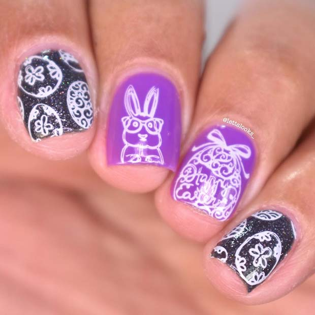 Easter Eggs and Bunny Nails