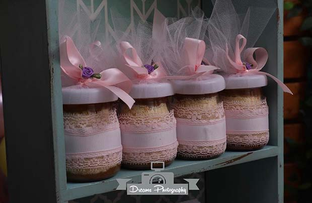 Cute Pink Tulle Jars