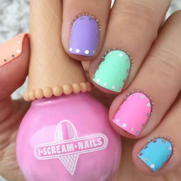 Cute Spring Nail Idea