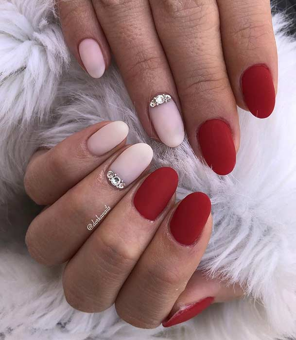 Elegant Red Nail Design for Short Nails