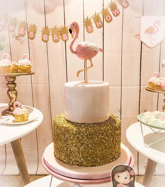 Flamingo Theme Baby Shower Idea