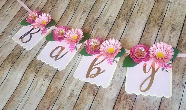 Floral Baby Banner