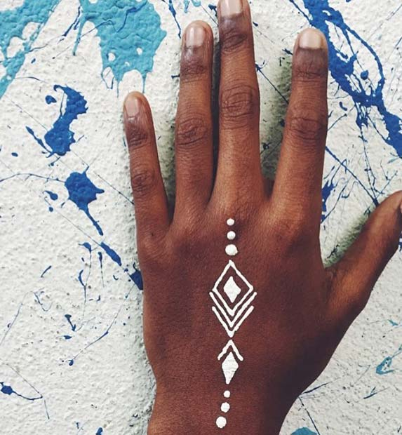 Geomtric White Henna Idea