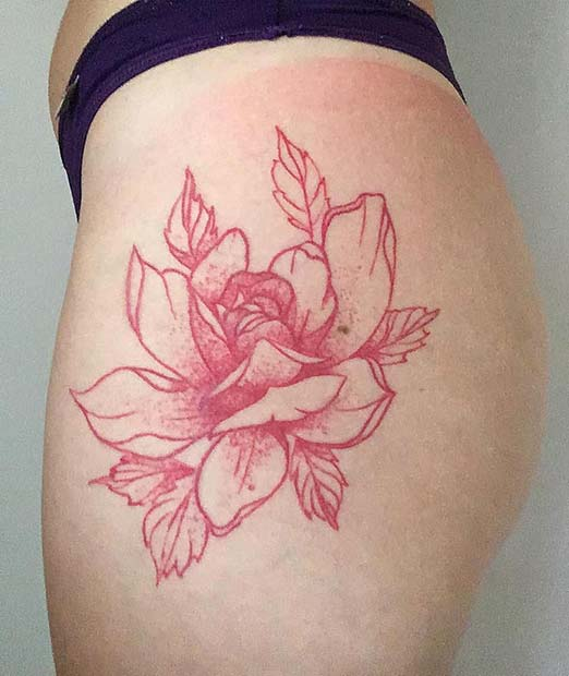 5b0bb9c17 21 Unique Red Ink Tattoos That Are Sure to Stand Out | StayGlam