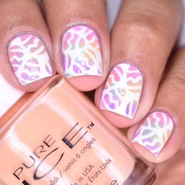 Holographic Easter Nail Idea