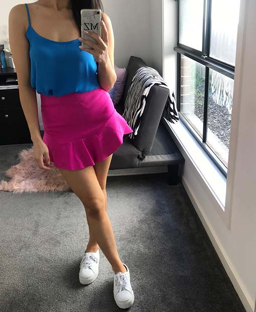 Neon Pink and Blue Summer Neon Outfit