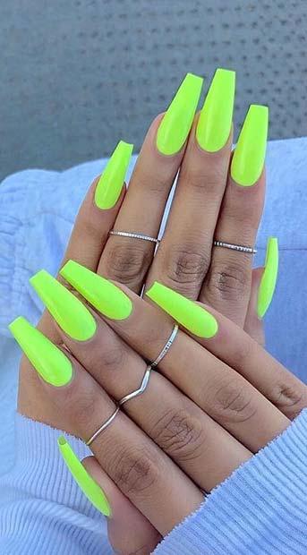 Neon Sarı Tabut Çivileri