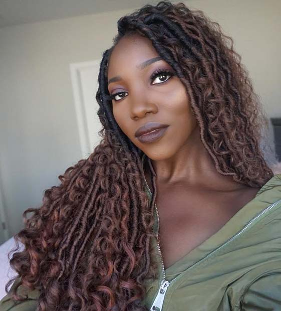 Brown Ombre Faux Locs