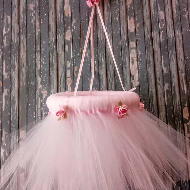 Pink Tulle Chandelier