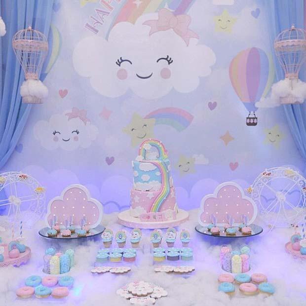 Pretty Cloud Baby Shower Theme