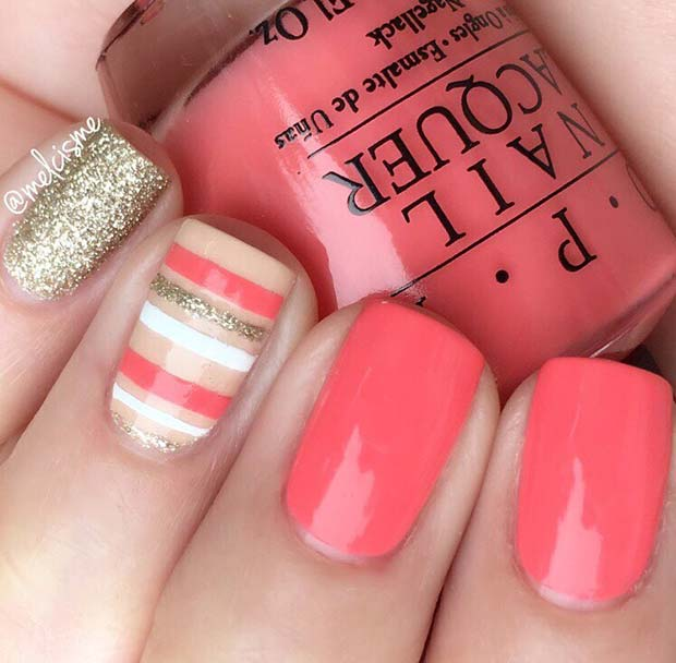 Pretty Striped Nails for Spring and Summer