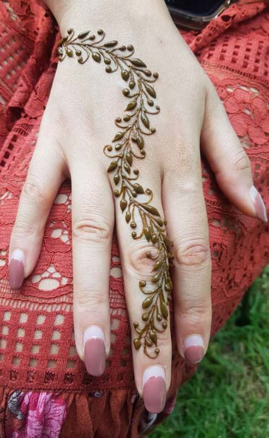 Pretty Wrist and Hand Mehndi