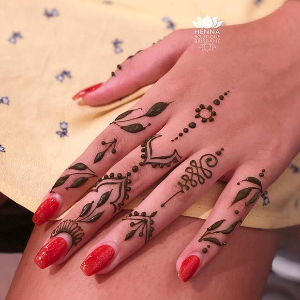 Stylish Hand Henna Idea