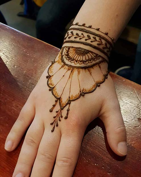 Henna Quick Stylish Mehandi Wrist: 23 Simple Henna Designs That Are Easy To Draw