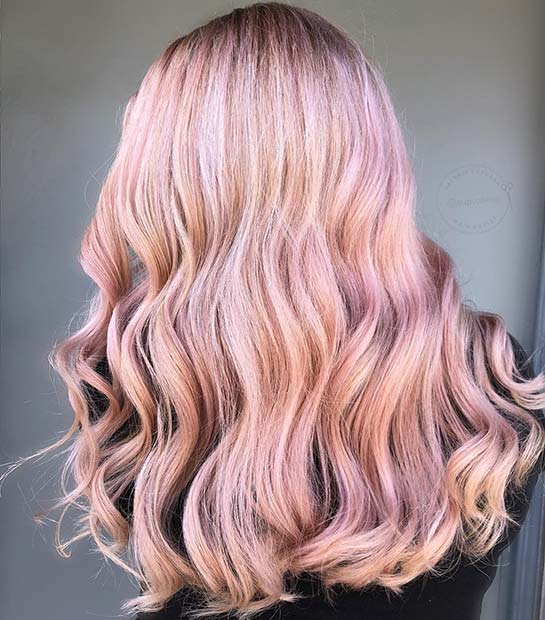 43 Trendy Rose Gold Hair Color Ideas