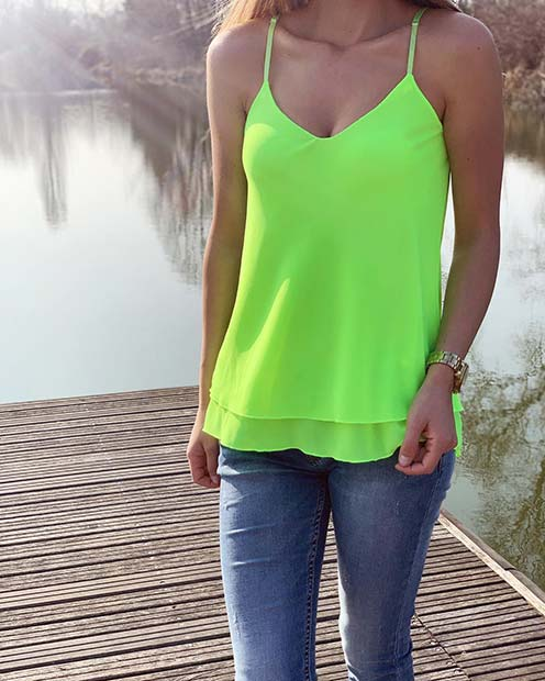 Summer Neon Top and Jeans