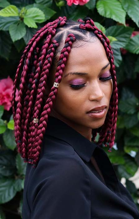 23 Short Box Braid Hairstyles Perfect for Warm Weather | StayGlam