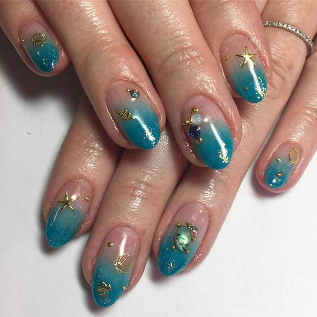 Cute, Beach Nail Design