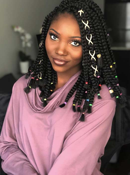 Short Crochet Box Braids