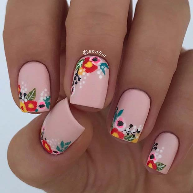 Floral Nail Art: 63 Best Spring Nail Art Designs To Copy In 2020