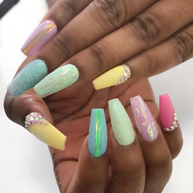 Vibrant Spring Nails