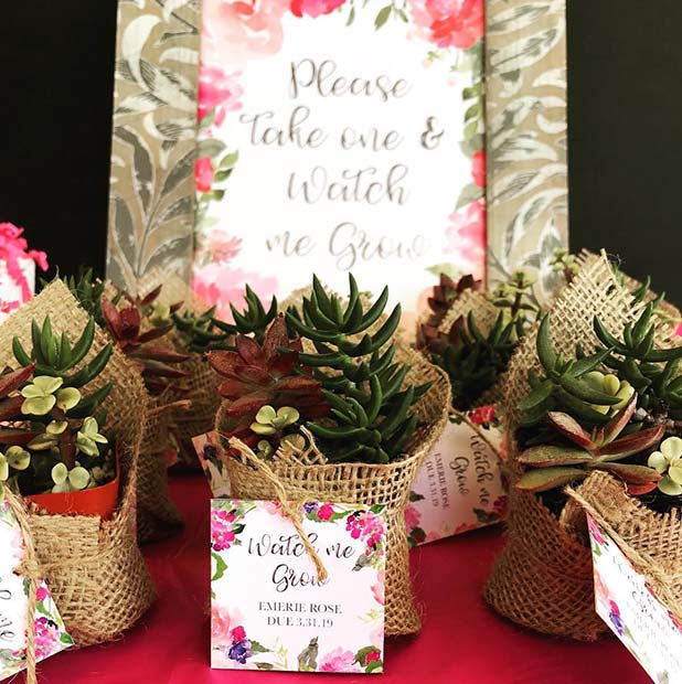 Watch Me Grow Baby Shower Favors