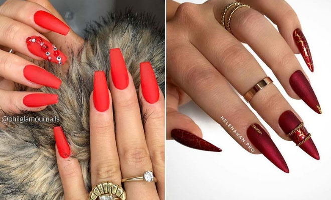 21 Pretty Ways to Wear Red Nails