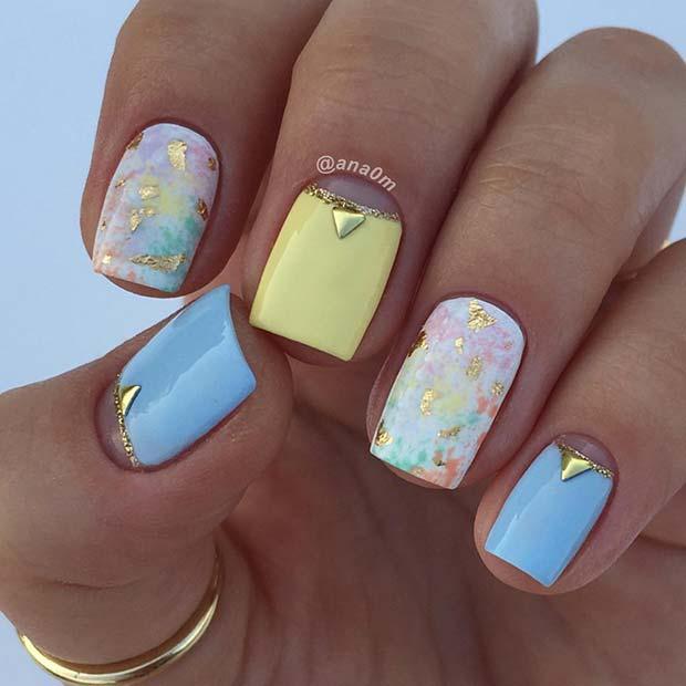 Pretty Pastel Nail Design for Spring