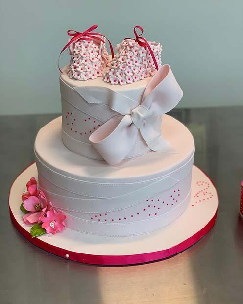 Baby Shoe Cake Idea