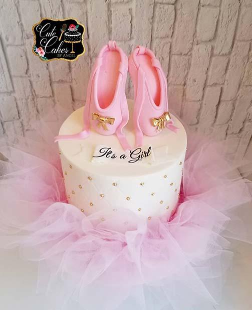 Ballerina Cake for a Girl's Baby Shower