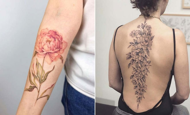 cb6d4637b 21 Beautiful Peony Tattoo Ideas for Women | StayGlam