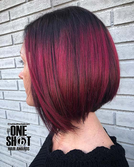 Red Ombre Short Hair
