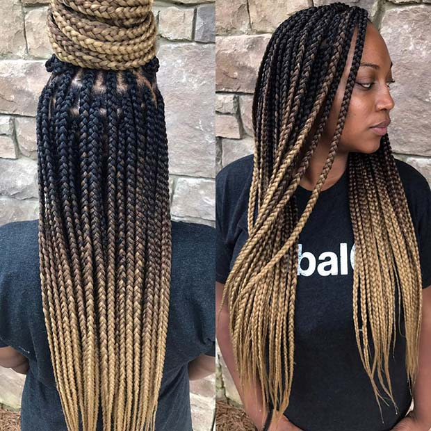 Blonde Ombre Braids