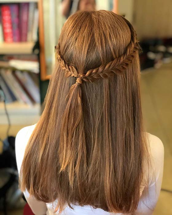 Boho Half Up Half Down Braids
