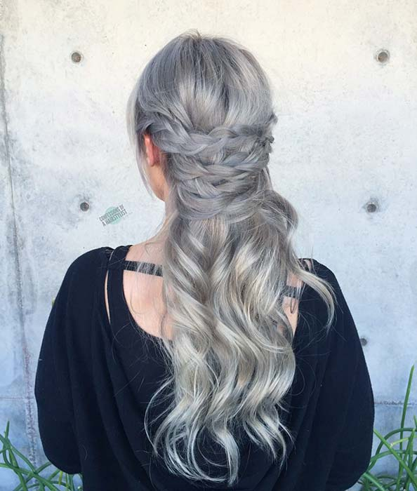 Bold Grey Braids