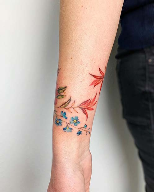 Botanical Bracelet Tattoo