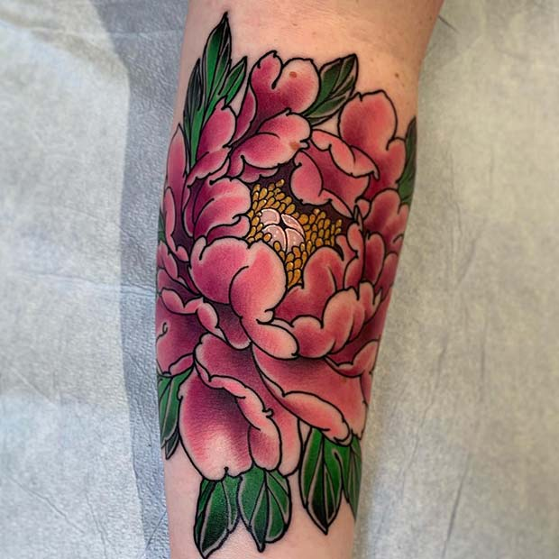 Bright and Colorful Peony Design