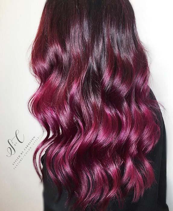 Burgundy Hair with Purple Tones