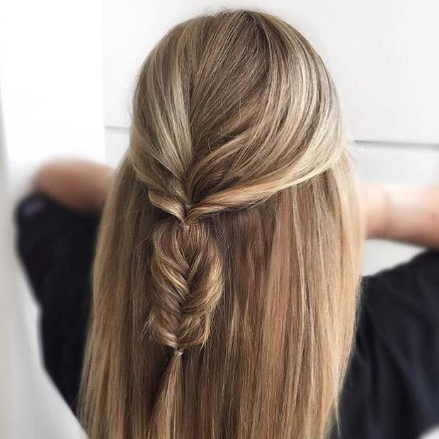 Chic, Half Up Fishtail Braids